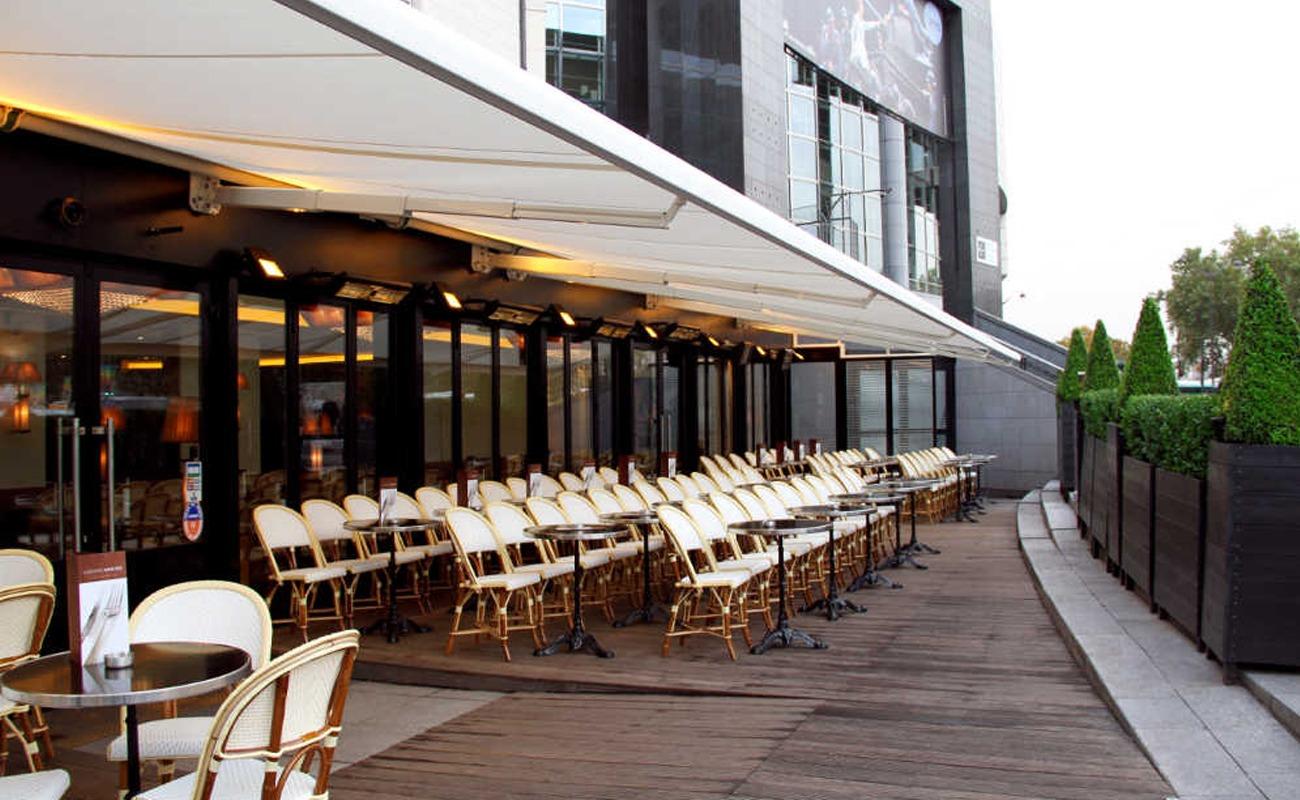 Terrasse de l'un des meilleurs restaurants à Bastille